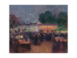 Night Fair at Saint-Pol-De-Léon, Ca 1896 Giclee Print by Ferdinand Loyen du Puigaudeau