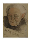 Portrait of Clara Zetkin (1857-193), 1921 Giclee Print by Nikolai Andreevich Andreev