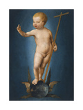 The Infant Christ on the Orb of the World, Ca 1530 Giclee Print by Joos Van Cleve