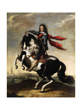 Equestrian Portrait of Valdemar Christian of Schleswig-Holstein (1622-165) Giclee Print by Wolfgang Heimbach