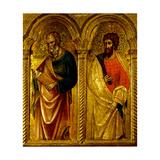Apostles Saint James and Saint Bartholomew, Ca 1345 Giclée-tryk af Paolo Veneziano
