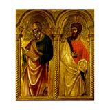 Apostles Saint James and Saint Bartholomew, Ca 1345 Giclee Print by Paolo Veneziano