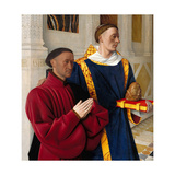 Étienne Chevalier with Saint Stephen, Ca 1454 Giclee Print by Jean Fouquet