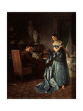 A Fashion Lady. Preparation for a Ball, 1872 Giclee Print by Firs Sergeevich Zhuravlev
