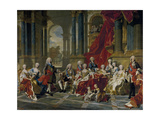 The Family of Philip V, King of Spain, 1743 Giclee Print by Louis Michel Van Loo