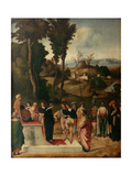 Moess Undergoes Trial by Fire, 1502-1505 Giclee Print by  Giorgione