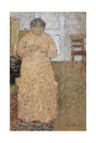 Woman in Pink Dress, Um 1900-1904 Giclee Print by Édouard Vuillard