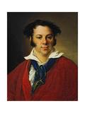 Portrait of Konstantin Ravich, 1823 Giclee Print by Vasili Andreyevich Tropinin