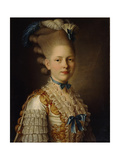 Portrait of Countess Kh. Obolenskaya, Ca 1776 Giclee Print by Alexander Roslin