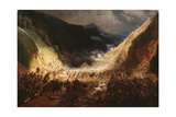 Battle of the Rothenthurm Pass, 1871 Giclee Print by Gottfried Willewalde
