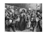 Hop-Pickers Leaving London Bridge at Midnight, 1900 Giclee Print