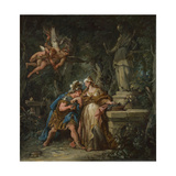 Jason Swearing Eternal Affection to Medea, 1743 Giclee Print by Jean-François de Troy