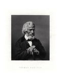Thomas Carlyle, Scottish Essayist, Satirist, and Historian, Mid-Late 19th Century Giclee Print by Elliott & Fry