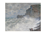 Rough Weather at Étretat, 1883 Giclee Print by Claude Monet
