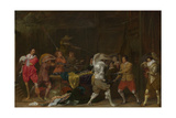 Soldiers Fighting over Booty in a Barn, C.1623 Giclee Print by Willem Cornelisz Duyster
