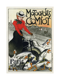 Motocycles Comiot, 1899 Giclee Print by Theophile Alexandre Steinlen
