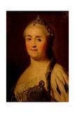 Portrait of Empress Catherine II (1729-179), 1770S Giclee Print by Heinrich Buchholz