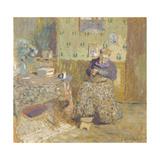 Madame Vuillard Sewing, 1920 Giclee Print by Édouard Vuillard