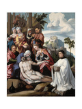 The Lamentation over Christ with a Donor, C.1535 Giclee Print by Jan van Scorel