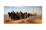 Barge Haulers on the Volga, 1872-1873 Giclee Print by Ilya Yefimovich Repin
