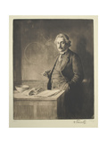 Portrait of Albert Einstein (1879-195), 1921 Giclee Print by Ferdinand Schmutzer