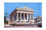 The Temple of Poseidon, Paestum, Italy, 1933-1934 Giclee Print by Joseph Buhlmann