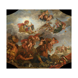 Mars on His Chariot Pulled by Wolves, 1673 Giclee Print by Claude Audran the Younger