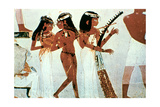 Wall Painting, Detail, Group of Musicians, Tomb of Nakht, Thebes Giclee Print