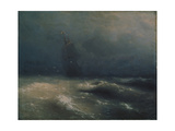 Storm at the Seashore by Nice, 1885 Giclee Print by Ivan Konstantinovich Aivazovsky