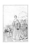 Marie Adelaide of Savoy, Duchess of Bourgogne, C17th Century Giclee Print
