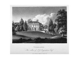 View of Woodlands House, Blackheath, Greenwich, London, 1804 Giclee Print by John Hassell