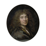 Portrait of the Author Moliére (1622-167), Ca 1658 Giclee Print by Pierre Mignard