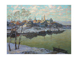 Early Spring, a City at the River, 1916 Giclee Print by Konstantin Ivanovich Gorbatov