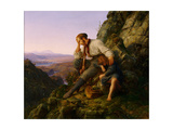 The Robber and His Child, 1832 Giclee Print by Carl Friedrich Lessing