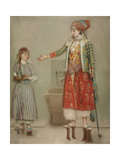 A Lady in Turkish Costume with Her Servant at the Hammam, Mid of the 18th C Giclee Print by Jean-Étienne Liotard