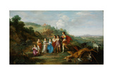 The Seven Children of the Winterking, 1628 Giclee Print by Cornelis van Poelenburgh