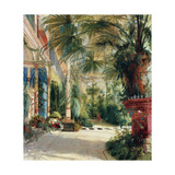 The Interior of the Palm House, 1832-1833 Giclee Print by Carl Blechen