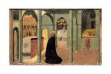 Saint Thomas Aquinas in Prayer, Ca 1428-1432 Giclée-tryk af Sassetta