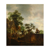 Travellers Halting at an Inn, 1645 Giclee Print by Isaac Van Ostade