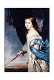 Portrait of Queen Christina of Sweden (1626-168), 1661 Giclee Print by Abraham Wuchters