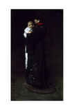 Mother and Child (The First Portrait), C. 1888 Giclee Print by William Merritt Chase