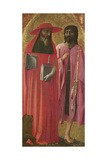 Saints Jerome and John the Baptist, Ca 1428-1429 Giclee Print by  Masaccio