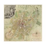 Map of Moscow, 1739 Giclée-Druck von Ivan Fyodorovich Michurin