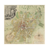 Map of Moscow, 1739 Giclee Print by Ivan Fyodorovich Michurin