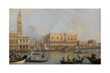 View of the Doge's Palace in Venice, before 1755 Giclee Print by  Canaletto