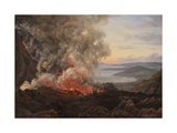Eruption of the Volcano Vesuvius, 1821 Giclee Print by Johan Christian Clausen Dahl