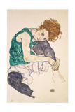 Egon Schiele - Seated Woman with Legs Drawn Up - Giclee Baskı