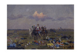 On the Snipes' Field Giclee Print by Andrei Petrovich Ryabushkin