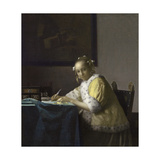A Lady Writing a Letter, 1665-1670 Giclee Print by Jan Vermeer