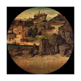 Landscape with Castles, Late 15th C Giclee Print by Bartolomeo Montagna